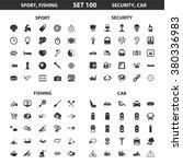 sport icons set. | Shutterstock .eps vector #380336983