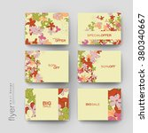 floral abstract vector brochure ... | Shutterstock .eps vector #380340667