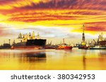 Big Ship With Escorting Tugs...