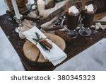 winter romantic picnic in...   Shutterstock . vector #380345323