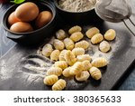 Uncooked Homemade Gnocchi On...