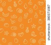 fruit seamless pattern | Shutterstock .eps vector #380371087