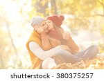 portrait of young couple in... | Shutterstock . vector #380375257