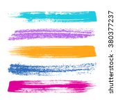 various vector colorful brush... | Shutterstock .eps vector #380377237