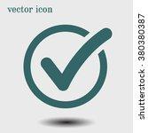 check list button icon. check... | Shutterstock .eps vector #380380387
