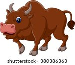 illustration of strong bull... | Shutterstock .eps vector #380386363