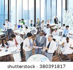 business people conversation... | Shutterstock . vector #380391817