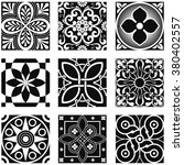 vintage ornamental patterns in... | Shutterstock .eps vector #380402557