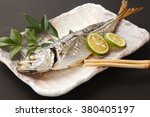salt grilled horse mackerel | Shutterstock . vector #380405197