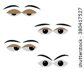 eye vector with different moods ... | Shutterstock .eps vector #380417527