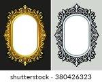 vector vintage border frame... | Shutterstock .eps vector #380426323