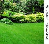 beautiful garden with a freshly ... | Shutterstock . vector #380427157