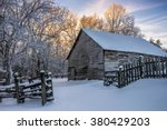 Old Barn And Fresh Snow At The...