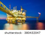 offshore oil and gas processing ... | Shutterstock . vector #380432047