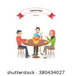 our success team linear design. ... | Shutterstock .eps vector #380434027
