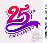 25th years anniversary design.... | Shutterstock .eps vector #380434573
