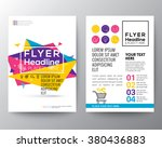 abstract triangle shape poster... | Shutterstock .eps vector #380436883