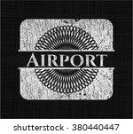 airport on chalkboard | Shutterstock .eps vector #380440447