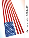 usa 3d flag with extruded stars | Shutterstock .eps vector #3804412