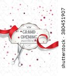 grand opening invitation card... | Shutterstock .eps vector #380451907