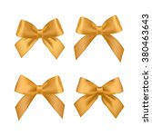 big set of gold gift bows with... | Shutterstock . vector #380463643