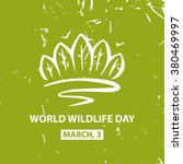 world wildlife day. march 3.... | Shutterstock .eps vector #380469997