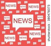 flat die design news hot reds | Shutterstock .eps vector #380478373