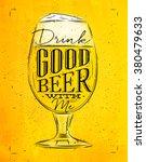 Poster Beer Glass Lettering...