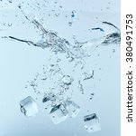 ice cubes in the water | Shutterstock . vector #380491753