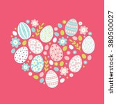 easter greeting card with big... | Shutterstock .eps vector #380500027