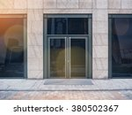 shopfront with large windows... | Shutterstock . vector #380502367