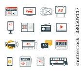 advertising media icon flat... | Shutterstock .eps vector #380509117