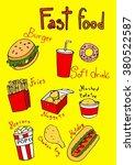 fast food vector cartoon image | Shutterstock .eps vector #380522587