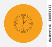 time outline vector icon on...