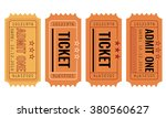 vector set of vintage paper... | Shutterstock .eps vector #380560627