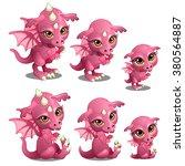 Pink Baby Dragon. Animated...