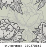 seamless vector background with ... | Shutterstock .eps vector #380570863
