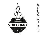 streetball icon logo set.... | Shutterstock .eps vector #380578537