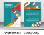 abstract vector modern flyers...   Shutterstock .eps vector #380590057