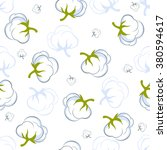seamless pattern with cotton... | Shutterstock .eps vector #380594617