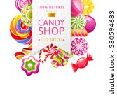 paper candy shop label with... | Shutterstock .eps vector #380594683
