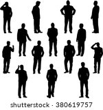 business people. silhouettes... | Shutterstock .eps vector #380619757