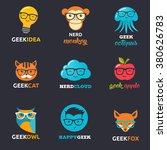 geek  nerd  smart hipster icons ... | Shutterstock .eps vector #380626783