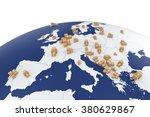 cargo delivery transportation... | Shutterstock . vector #380629867