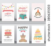 happy birthday  holiday ... | Shutterstock .eps vector #380635303