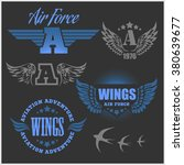 air force shields and labels... | Shutterstock .eps vector #380639677