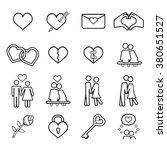 love icons set. | Shutterstock .eps vector #380651527