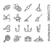 fishing icons set. | Shutterstock .eps vector #380651773