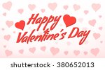 happy valentine's day card  ... | Shutterstock .eps vector #380652013