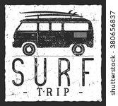 surf trip concept. vector... | Shutterstock .eps vector #380656837